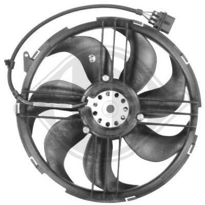 Ventilateur, refroidissement du moteur - Diederichs Germany - 2204101