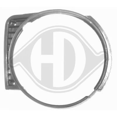 Cadre, grille de radiateur - Diederichs Germany - 2210043
