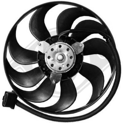 Ventilateur, refroidissement du moteur - Diederichs Germany - 2213203