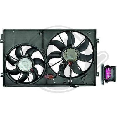 Ventilateur, refroidissement du moteur - Diederichs Germany - 2214001