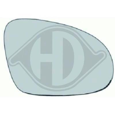 Verre de rétroviseur, rétroviseur extérieur - HDK-Germany - 77HDK2214327