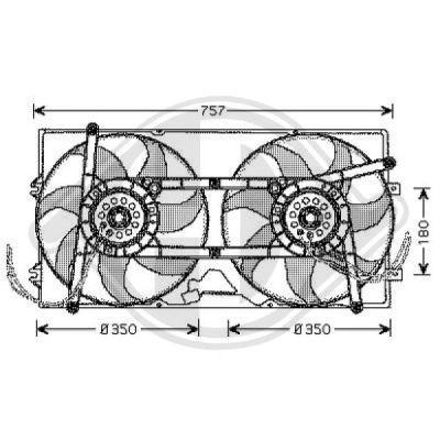 Ventilateur, refroidissement du moteur - Diederichs Germany - 2270001