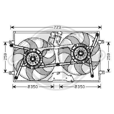 Ventilateur, refroidissement du moteur - Diederichs Germany - 2270101
