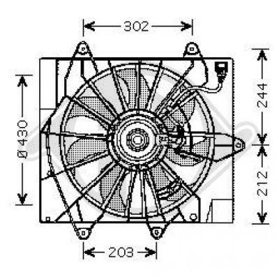 Ventilateur, condenseur de climatisation - Diederichs Germany - 2605002