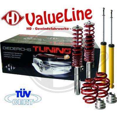 Jeu de suspensions, ressorts/amortisseurs - HDK-Germany - 77HDK9999150
