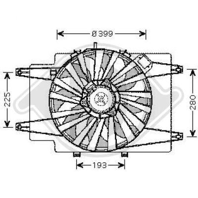 Ventilateur, refroidissement du moteur - Diederichs Germany - 3041201
