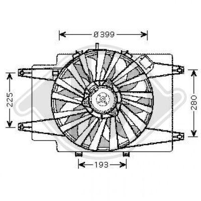 Ventilateur, refroidissement du moteur - Diederichs Germany - 3041301