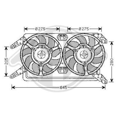 Ventilateur, refroidissement du moteur - Diederichs Germany - 3051101