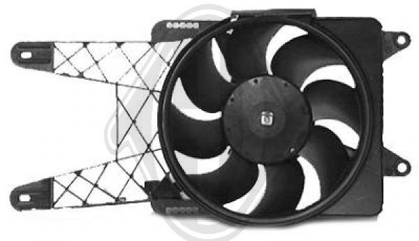 Ventilateur, refroidissement du moteur - Diederichs Germany - 3433101