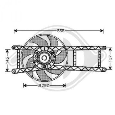 Ventilateur, refroidissement du moteur - HDK-Germany - 77HDK3434001