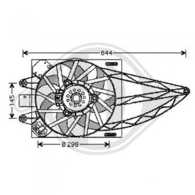 Ventilateur, refroidissement du moteur - Diederichs Germany - 3434301