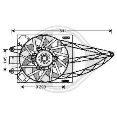 Ventilateur, refroidissement du moteur - Diederichs Germany - 3434401