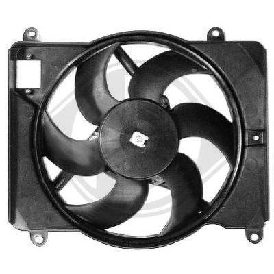 Ventilateur, refroidissement du moteur - Diederichs Germany - 3452101