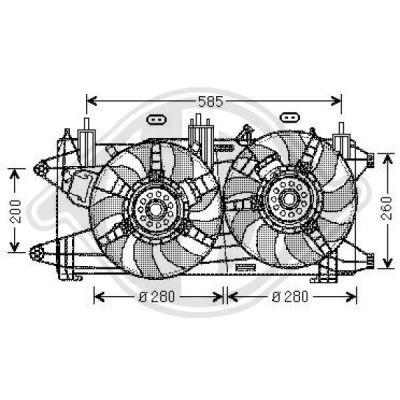 Ventilateur, refroidissement du moteur - Diederichs Germany - 3485101