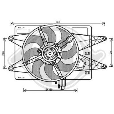 Ventilateur, refroidissement du moteur - Diederichs Germany - 3485112