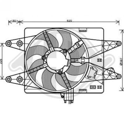 Ventilateur, refroidissement du moteur - Diederichs Germany - 3485113