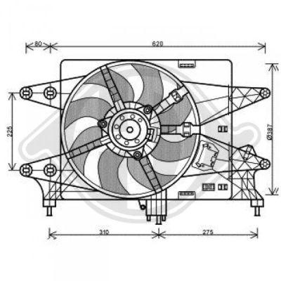 Ventilateur, refroidissement du moteur - Diederichs Germany - 3485115