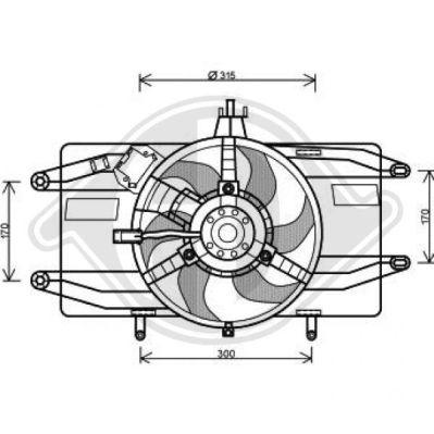 Ventilateur, refroidissement du moteur - Diederichs Germany - 3485116