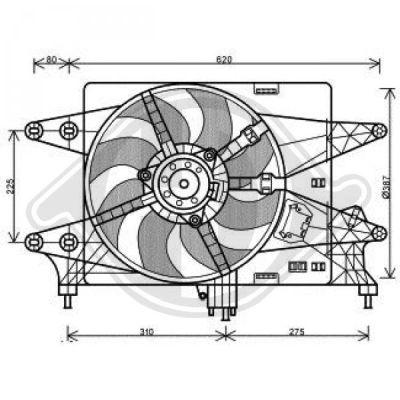 Ventilateur, refroidissement du moteur - Diederichs Germany - 3485118