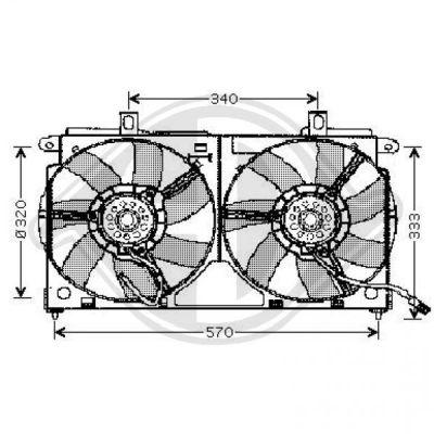 Ventilateur, refroidissement du moteur - Diederichs Germany - 4210101