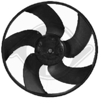 Ventilateur, refroidissement du moteur - Diederichs Germany - 4225002