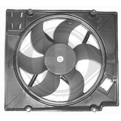Ventilateur, refroidissement du moteur - Diederichs Germany - 4463501
