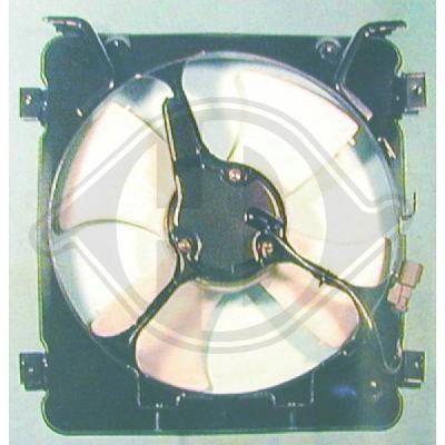 Ventilateur, condenseur de climatisation - Diederichs Germany - 5207001