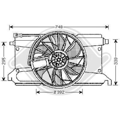 Ventilateur, refroidissement du moteur - Diederichs Germany - 5618101