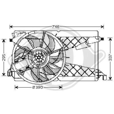 Ventilateur, refroidissement du moteur - Diederichs Germany - 5618201