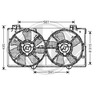 Ventilateur, refroidissement du moteur - Diederichs Germany - 5625102