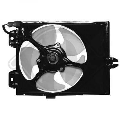 Ventilateur, condenseur de climatisation - Diederichs Germany - 5806001