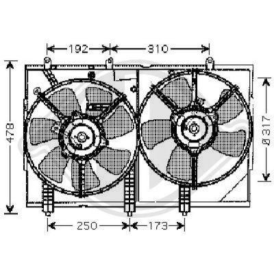 Ventilateur, refroidissement du moteur - HDK-Germany - 77HDK5846801