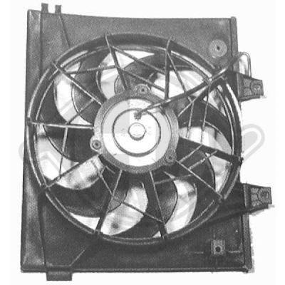 Ventilateur, condenseur de climatisation - Diederichs Germany - 6530001