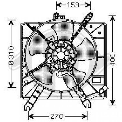 Ventilateur, condenseur de climatisation - HDK-Germany - 77HDK6540101