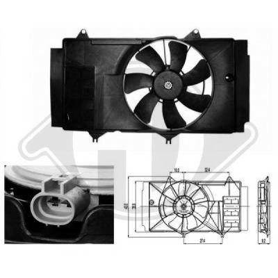 Ventilateur, refroidissement du moteur - Diederichs Germany - 6605201