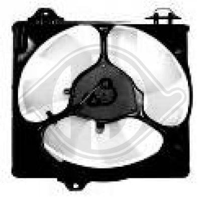 Ventilateur, condenseur de climatisation - Diederichs Germany - 6686201