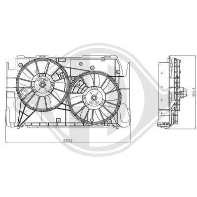 Ventilateur, refroidissement du moteur - Diederichs Germany - 6687101