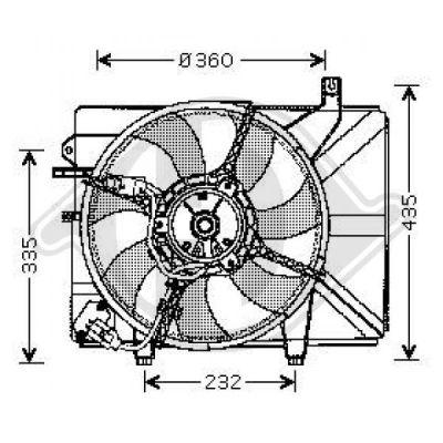 Ventilateur, refroidissement du moteur - Diederichs Germany - 6805101