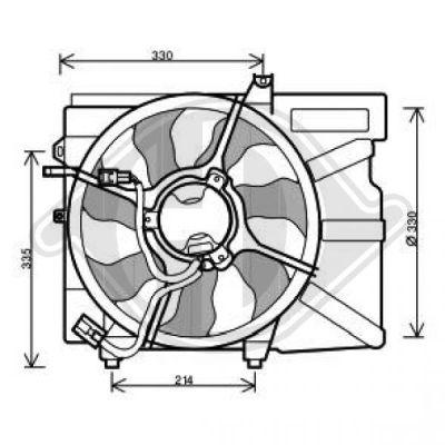 Ventilateur, refroidissement du moteur - Diederichs Germany - 6805201