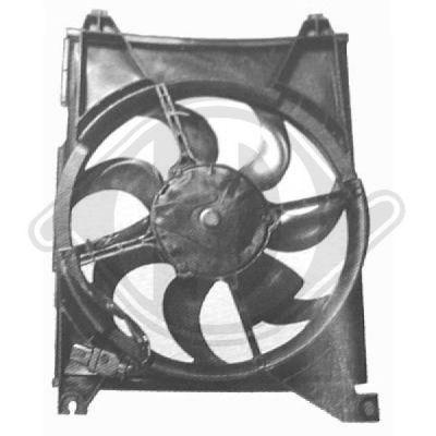 Ventilateur, condenseur de climatisation - Diederichs Germany - 6821001