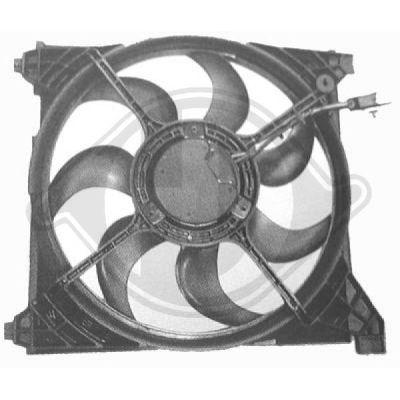 Ventilateur, refroidissement du moteur - Diederichs Germany - 6821101