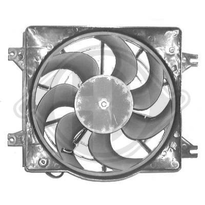 Ventilateur, condenseur de climatisation - Diederichs Germany - 6830001
