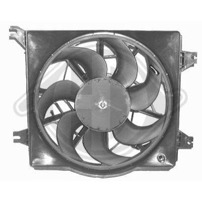Ventilateur, refroidissement du moteur - Diederichs Germany - 6830101