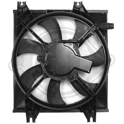 Ventilateur, condenseur de climatisation - Diederichs Germany - 6832001
