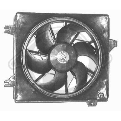 Ventilateur, refroidissement du moteur - Diederichs Germany - 6841101