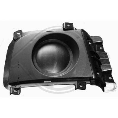 Grille de ventilation, pare-chocs - HDK-Germany - 77HDK6851049