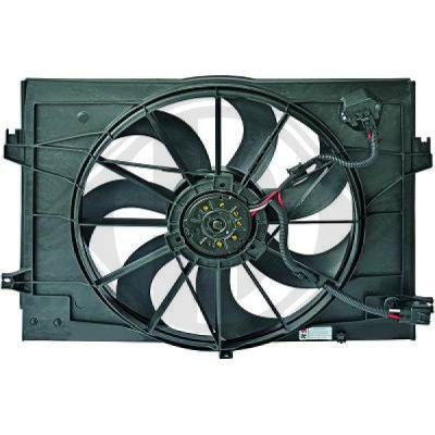 Ventilateur, refroidissement du moteur - Diederichs Germany - 6860001