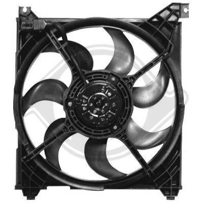 Ventilateur, refroidissement du moteur - Diederichs Germany - 6870201