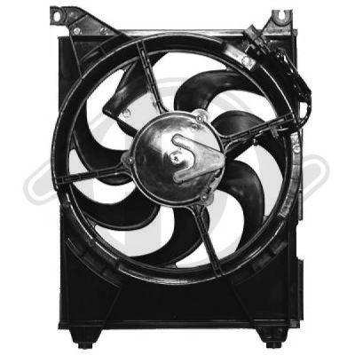 Ventilateur, condenseur de climatisation - Diederichs Germany - 6885801