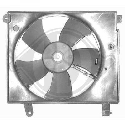 Ventilateur, condenseur de climatisation - Diederichs Germany - 6910601